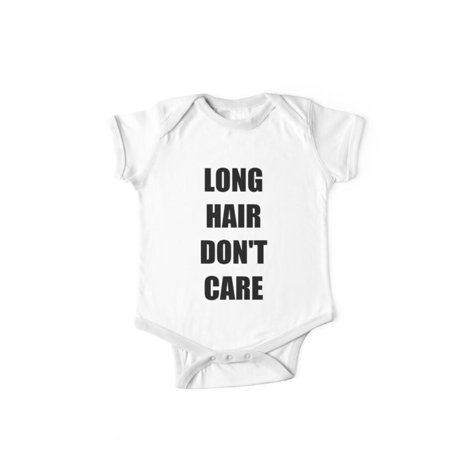 8607beb73 Body de manga corta para bebé «Long Hair Do not Care Camisetas» de ...