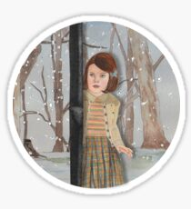 Lucy and the Lantern (Narnia) Sticker