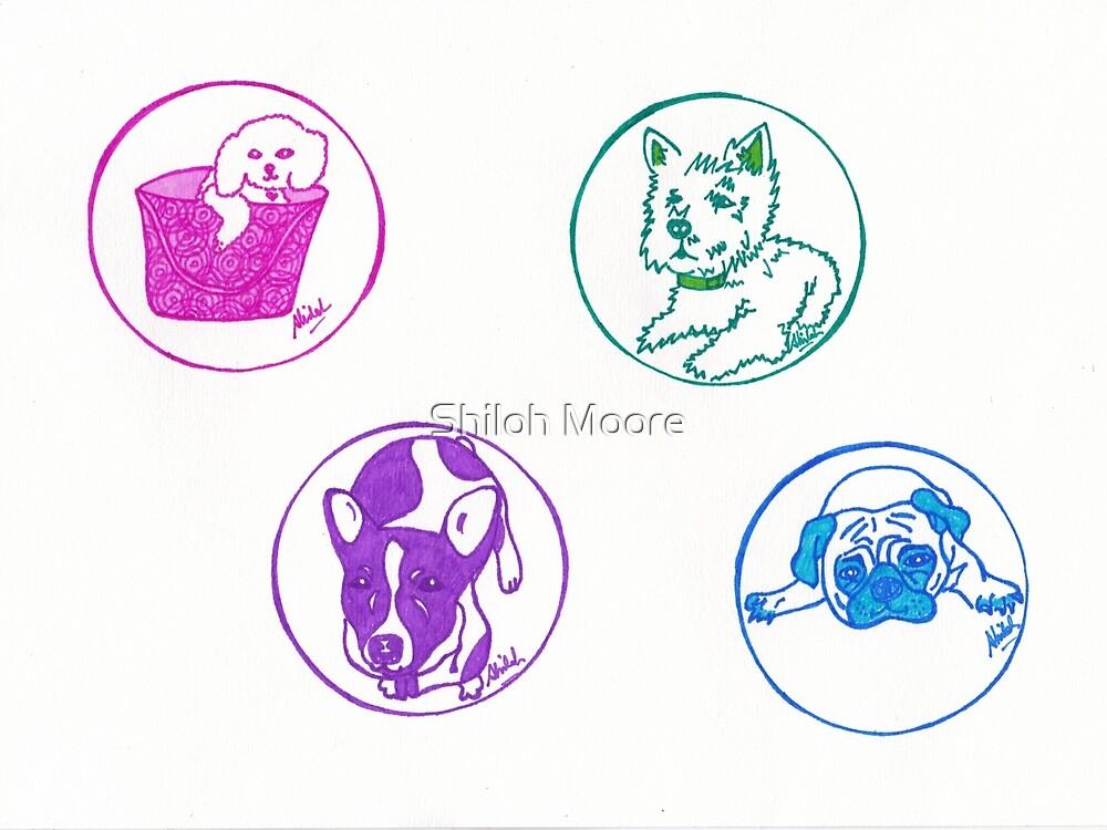 Pop Art Dogs by Shiloh Moore