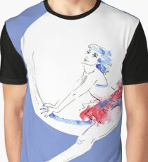 Watercolour Ballerina Graphic T-Shirt