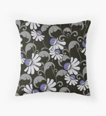 Floral Nights - Cute Floral Pattern Throw Pillow
