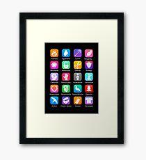 Potter Spell Icons Framed Print