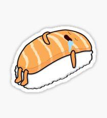 Sushi Bed (Salmon) Sticker
