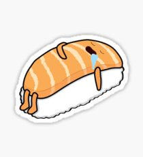 Sushi Bed (Salmon) Sticker