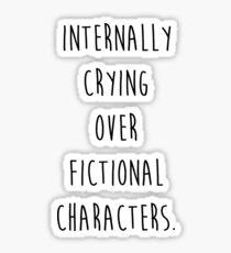 Pegatina Llorando internamente sobre personajes de ficción