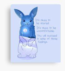 """""""Es ist okay, Angst zu haben"""" Night Snow Rabbit Leinwanddruck"""