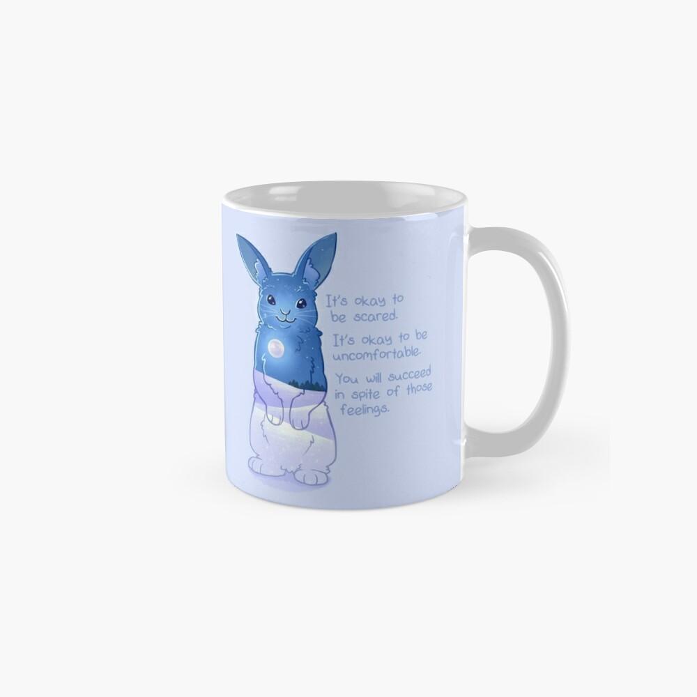 """""""Es ist okay, Angst zu haben"""" Night Snow Rabbit Tasse"""