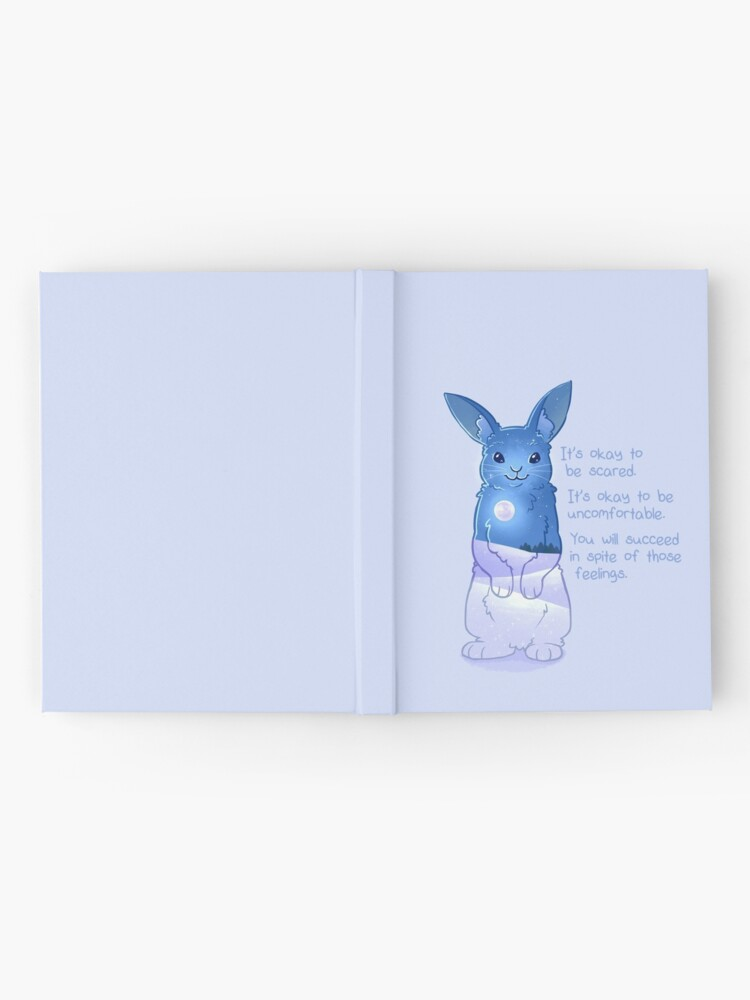 """Alternate view of """"It's Okay to Be Scared"""" Night Snow Rabbit Hardcover Journal"""