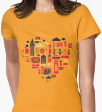 London Heart Womens Fitted T-Shirt