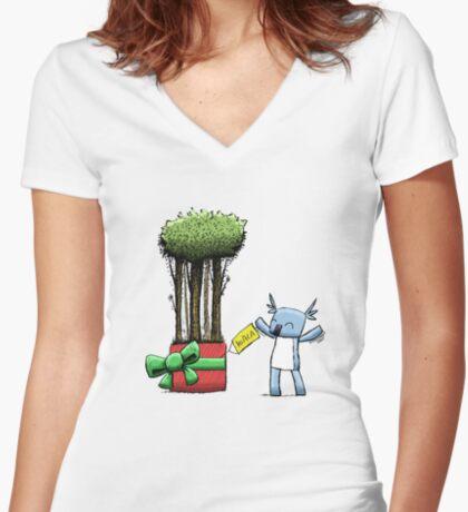 Tree Gift for Koala Fitted V-Neck T-Shirt