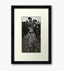 little girl dancing at woodstock Framed Print