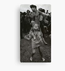 little girl dancing at woodstock Canvas Print