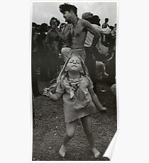 little girl dancing at woodstock Poster