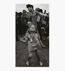 little girl dancing at woodstock Photographic Print