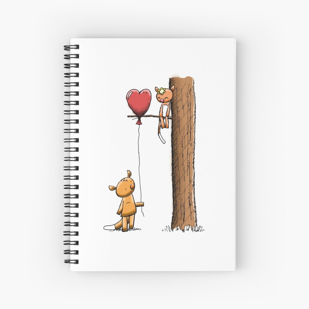 Valentine Possums Spiral Notebook