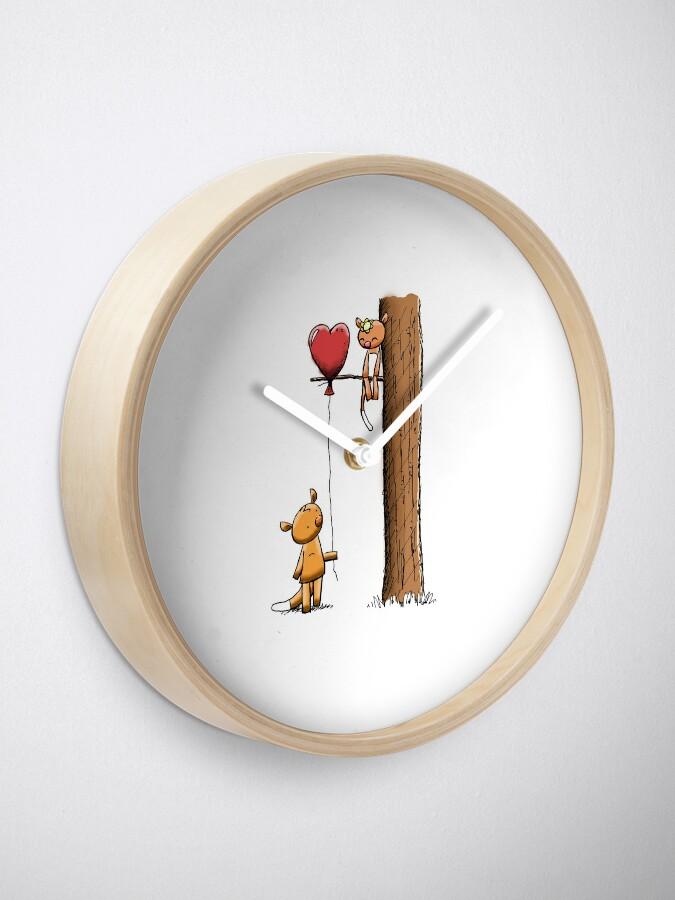 Alternate view of Valentine Possums Clock