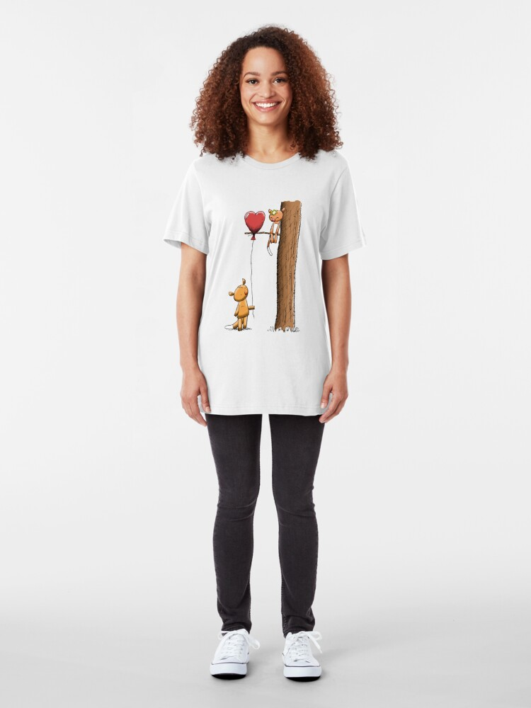 Alternate view of Valentine Possums Slim Fit T-Shirt