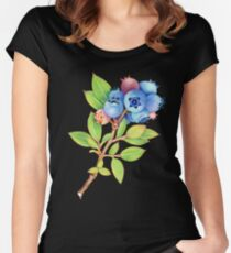 Wild Maine Blueberries Women's Fitted Scoop T-Shirt