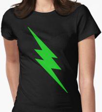 Green Lightning Bolt Women's Fitted T-Shirt