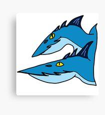 Minimalist Dragons: Seashocker Canvas Print