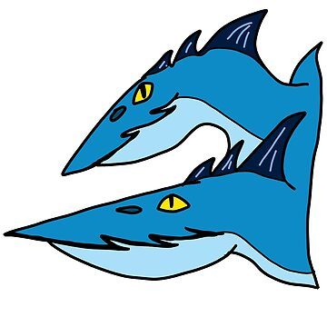 Minimalist Dragons: Seashocker by cantabileChaos