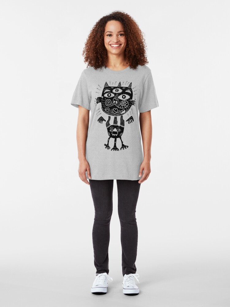 Alternate view of Some type of a cat Slim Fit T-Shirt