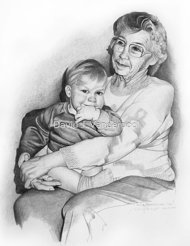 Jared and Great-Grandma Long by David J. Vanderpool