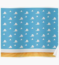 Toy Story Clouds  Poster