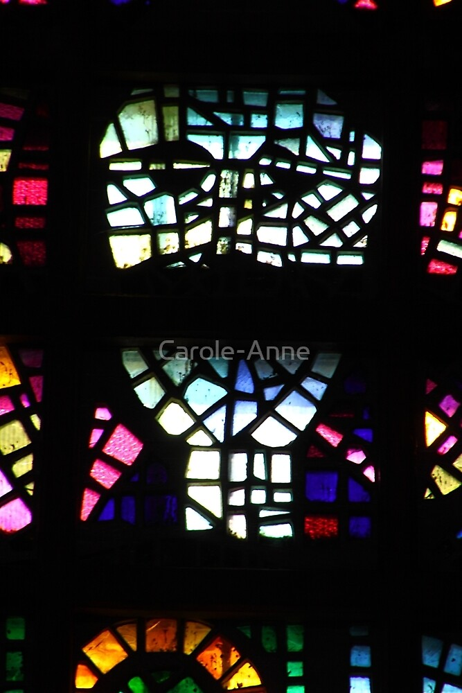 Colourful Glass Detail by Carole-Anne