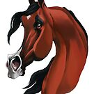 Arabian Horse Caricature by Char Reed