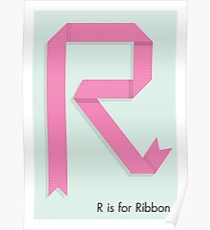 R is for Ribbon Poster