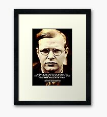 Silence In the Face of Evil Framed Print