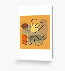 Abstract modern 50s style Greeting Card