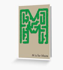 M is for Maze Greeting Card