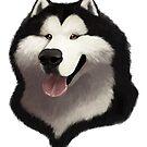 Alaskan Malamute Caricature by Char Reed