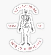Skeleton Tattoo Memories Quote Sticker