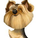 Yorkshire Terrier (Yorkie) Caricature by Char Reed