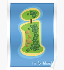 I is for Island Poster