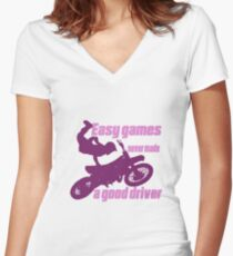 Motocross Women's Fitted V-Neck T-Shirt