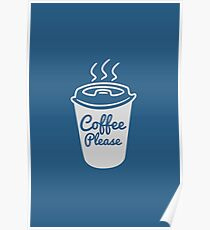 Cool Coffee Typography T-Shirt Poster