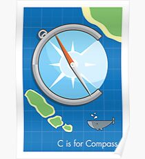 C is for Compass Poster