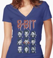 8-Bit By A Vampire Women's Fitted V-Neck T-Shirt