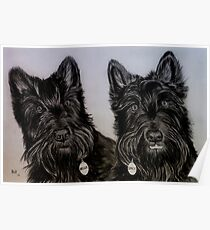 """""""Nellie and Gracie"""" - Dog portraits Poster"""