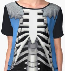 Skeleton T-Shirt Women's Chiffon Top