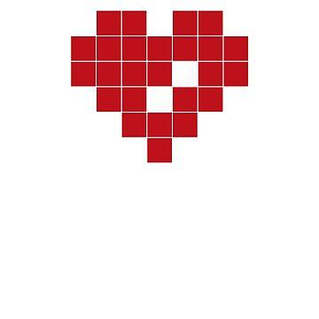 Valentine Heart in Pixel Art by jaredfin