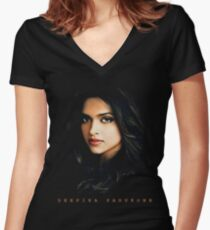Deepika Padukone Tshirt Women's Fitted V-Neck T-Shirt