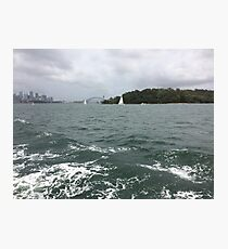 Boat ride with the Harbour Bridge in the distance, Sydney, Australia  Photographic Print