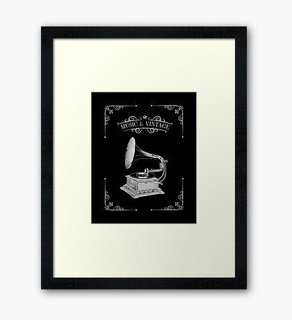 Music & Vintage Framed Print
