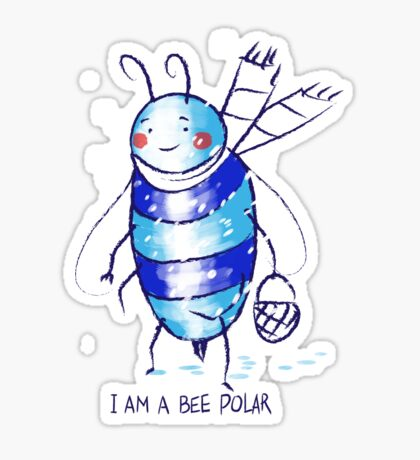 bee polar Sticker