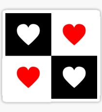 LOVE BLACK WHITE RED Sticker